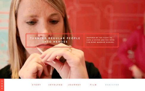 Sharing America's Marrow Web Design