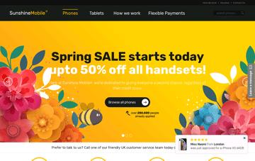 Sunshine Mobile Web Design