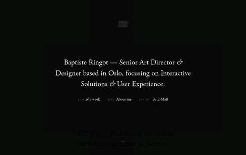 Baptiste Ringot Web Design