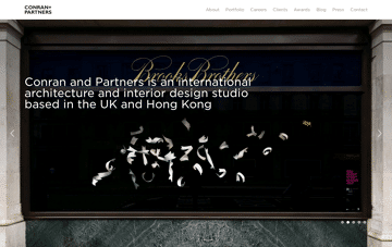 Conran and Partners Web Design