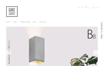 GANTlights  Web Design