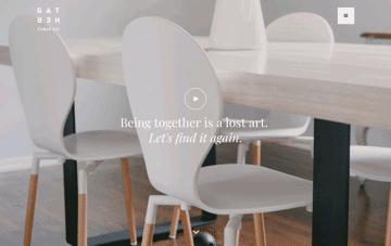 GATHER table co Web Design