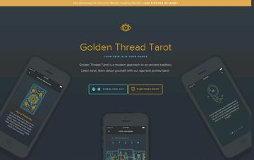 Golden Thread Tarot Web Design