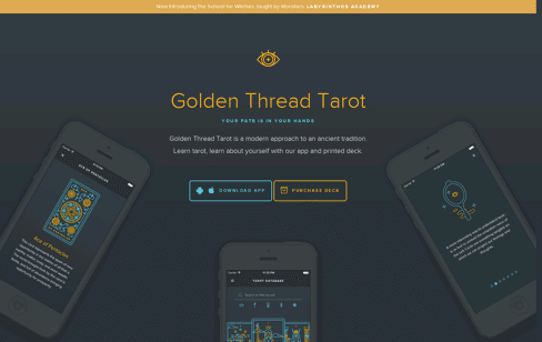 Golden Thread Tarot Web Design