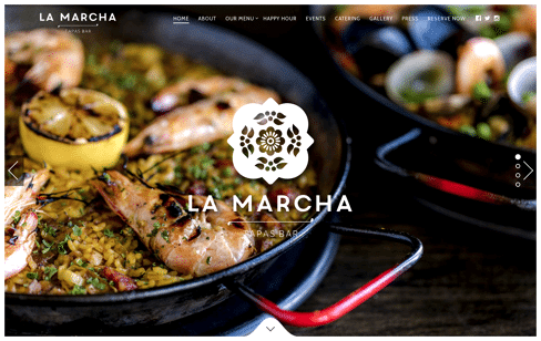 La Marcha Tapas Bar Web Design