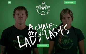 Leprechaun Chase Web Design