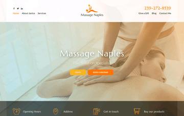 Massage Naples Web Design