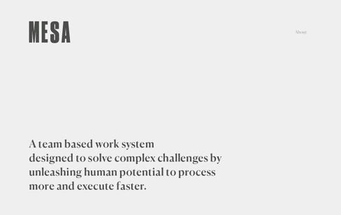 MESA Web Design