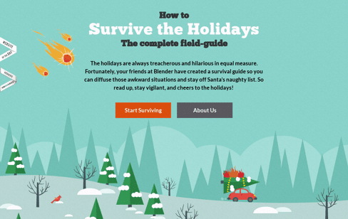 Survive the Holidays Web Design