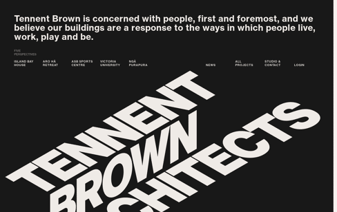 Tennent Brown Architects Web Design
