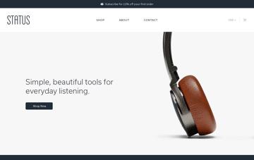 Status Audio Headphones Web Design