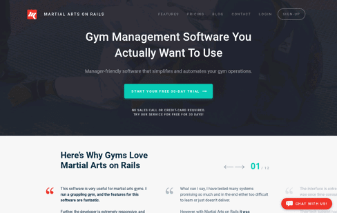 Martial Arts On Rails Web Design