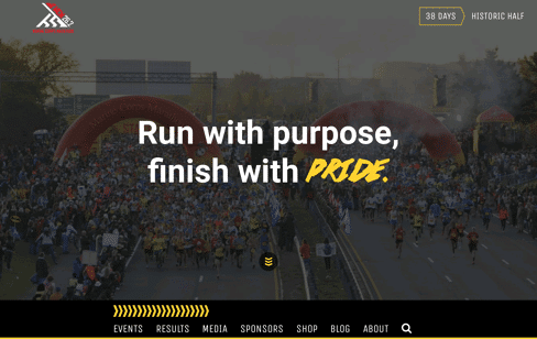 Marine Corps Marathon Web Design
