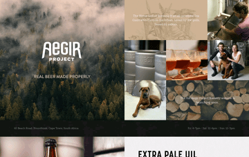 Aegir Project Brewery Web Design