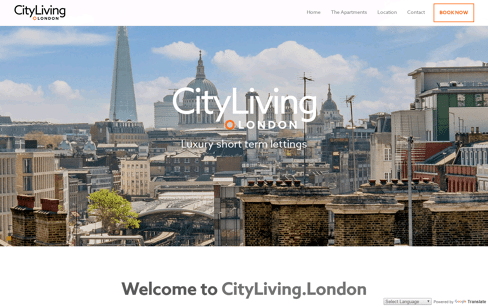 City Living London Web Design