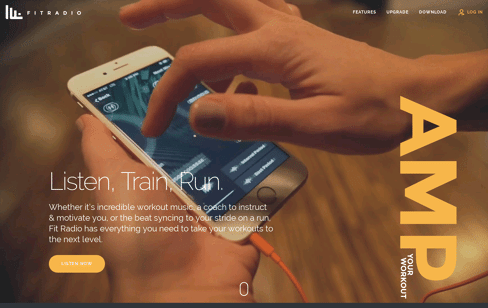 Fit Radio App Web Design