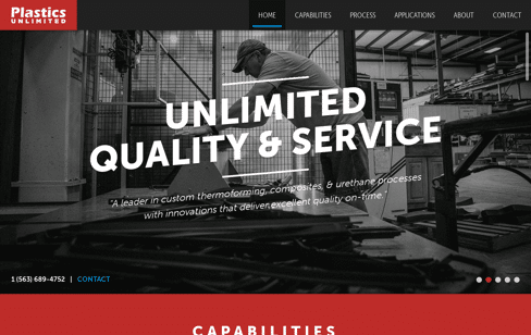 Plastics Unlimited Web Design