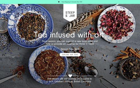 Steep & Jar Web Design