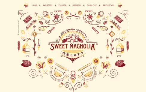 Sweet Magnolia Gelato Web Design