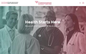 Cardiogenix Web Design