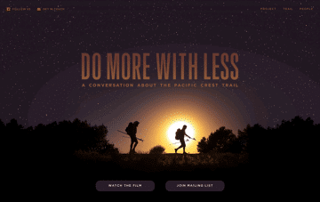 Do More With Less Film Web Design