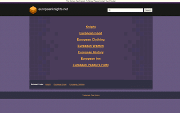 European Knights Web Design
