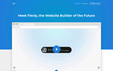Flexly Website Builder of the Future Web Design