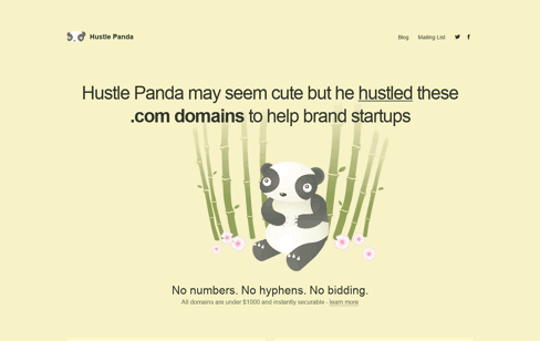 Hustle Panda Web Design