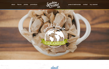 Sunshine Caramel Co Web Design