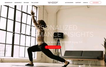 WHOOP Web Design