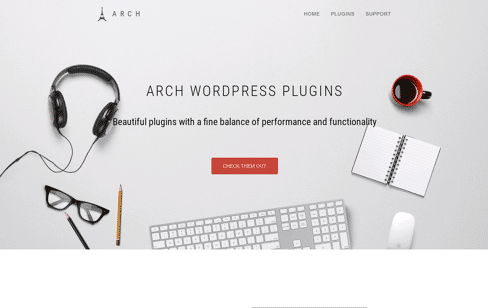 Arch Theme Web Design