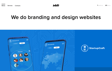 Mil's  Branding and Website development Web Design