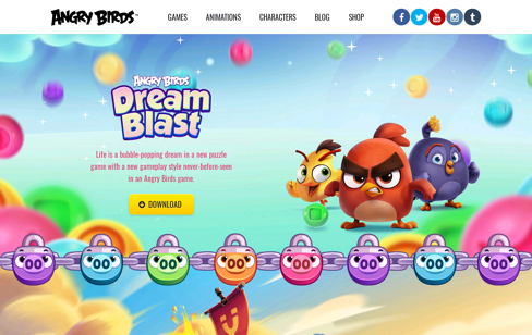 Angry Birds Web Design