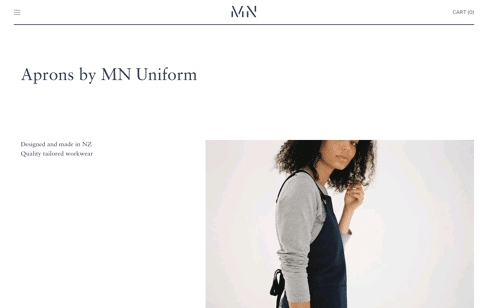 MN UNIFORM  Web Design