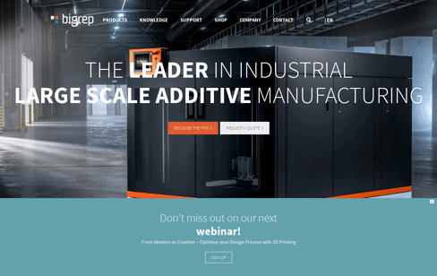 BigRep Large-Scale 3D Printers Web Design