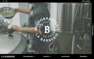 La Barberie Microbrasserie Québec Web Design