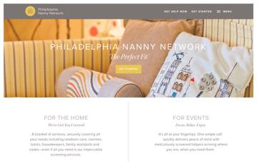Philadelphia Nanny Network Web Design