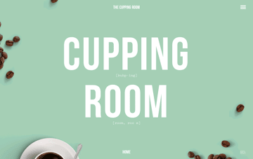 The Cupping Room Web Design