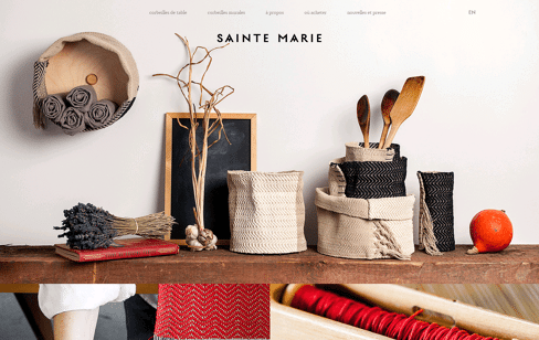 Sainte Marie Design Textile Web Design