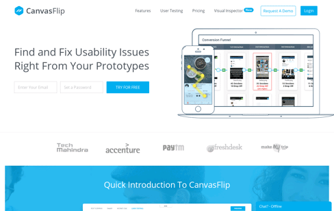 CanvasFlip Prototyping Testing Tool Web Design