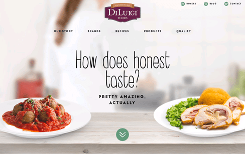 DiLuigi Foods Web Design