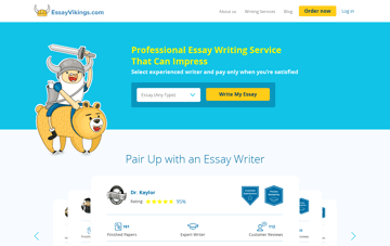 EssayVikings Essay Writing Service Web Design