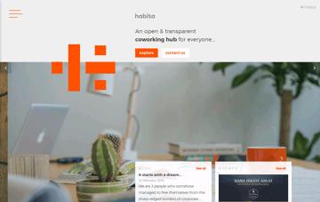 habita coworking Web Design