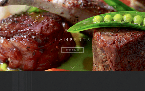 Lamberts Restaurant Web Design