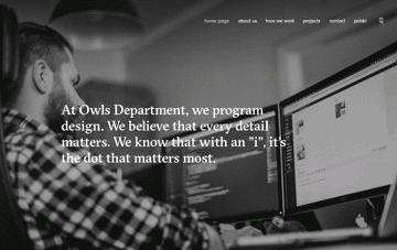 Owls Department Web Design