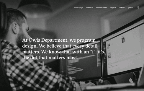 Owls Department Web Design