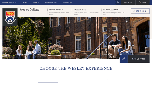 Wesley College Web Design