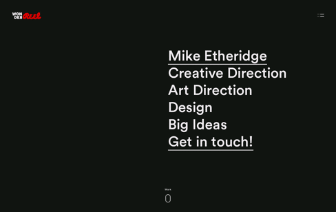 WonderReel Mike Etheridge Web Design