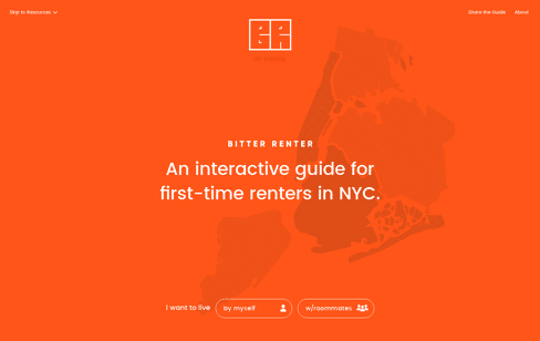 Bitter Renter Web Design