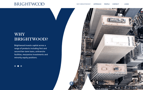 Brightwood Capital Advisors Web Design